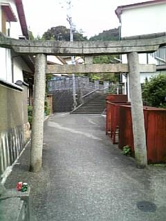 裏道の鳥居