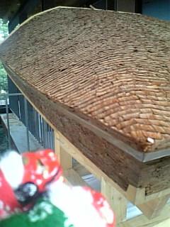 杉皮の屋根