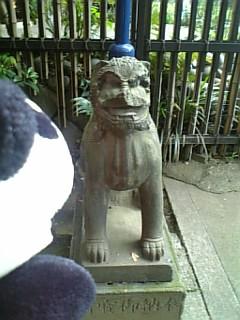 花園稲荷の狛犬さんI