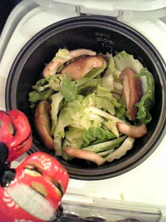 野菜セット完了!