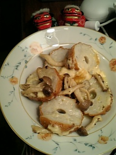 創作料理・野焼のチーズ乗せ