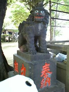 諏方神社の狛犬さんIII