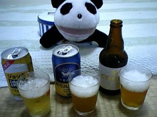 小麦のビールの飲み比べ