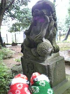 神明神社の狛犬さんII