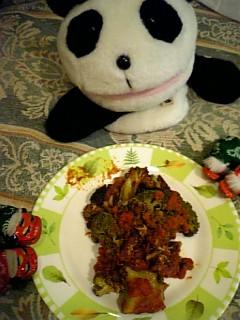 ブロッコリとひき肉のトマト煮