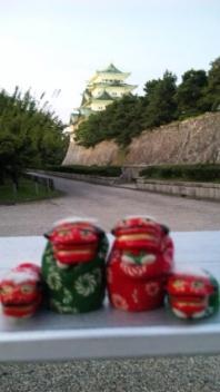 名古屋城の夕暮れ