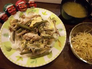 炊飯器版親子丼風プレート