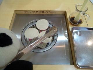 久々コタ尚宮煎餅を焼く