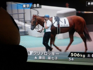 東京8レース、クリノロッキーくん登場