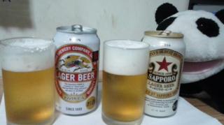 ラガービール対決