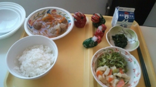 昼食も来た〜