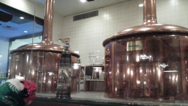 真後ろにあった醸造設備