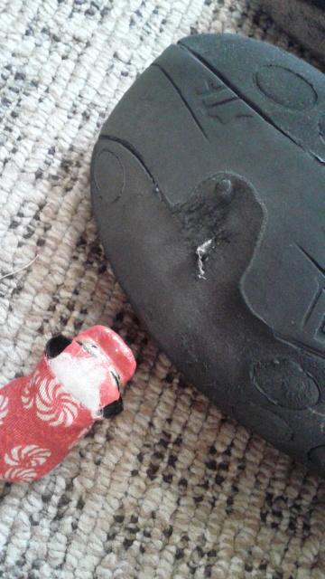 靴底に穴が