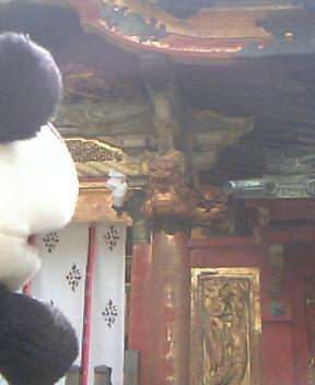 唐門の木鼻の獅子