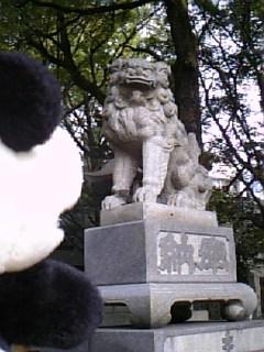 名古屋日記:若宮八幡神社の狛犬