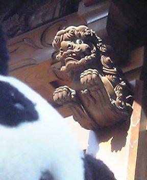 酉ノ寺の木鼻の獅子