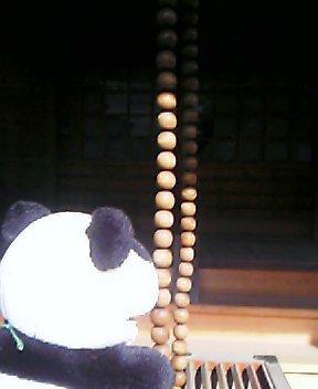 お参りの特大数珠